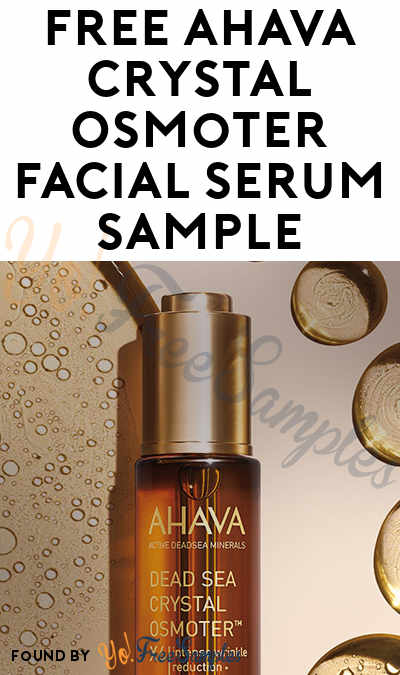 FREE AHAVA Crystal Osmoter Facial Serum Sample