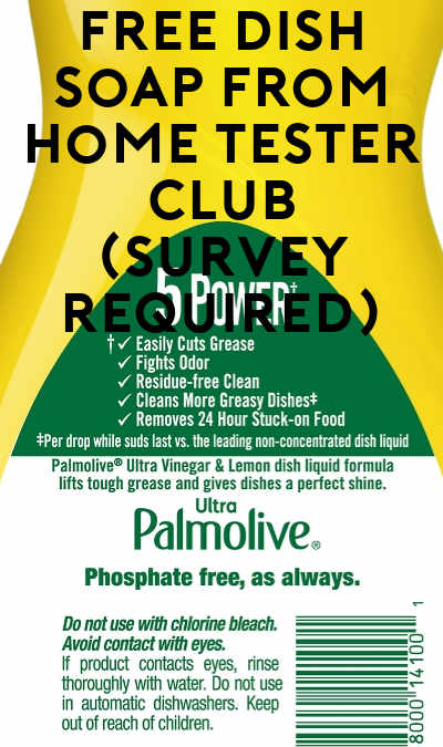 FREE Dish Soap From Home Tester Club (Survey Required)