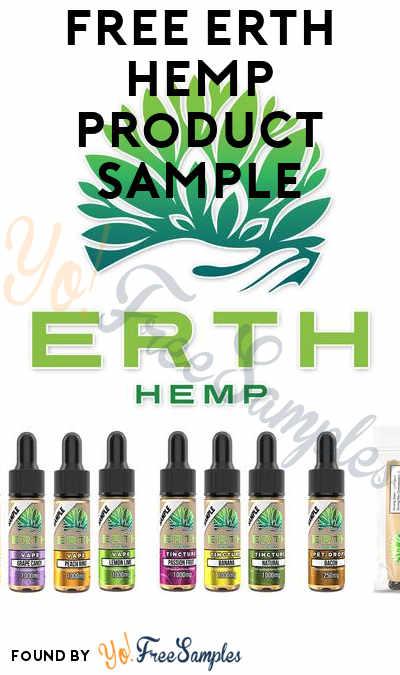 FREE ERTH Hemp Product Sample (Has $3.99 S/H Now)