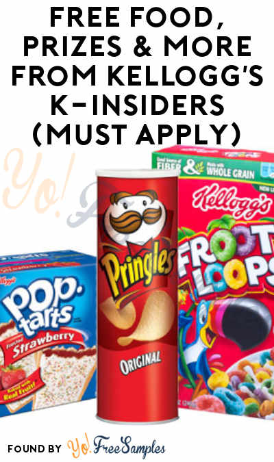 FREE Food, Prizes & More From Kellogg's K-Insiders (Must Apply)