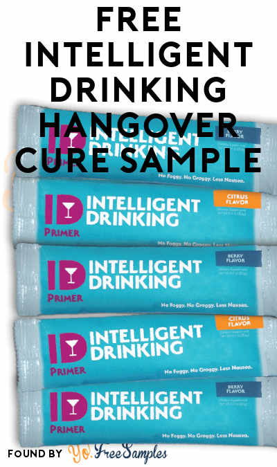 FREE Intelligent Drinking Hangover Cure Sample