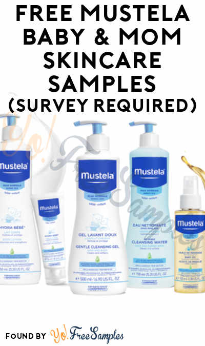 FREE Mustela Baby & Mom Skincare Samples (Survey Required)