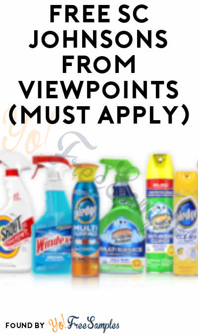 FREE SC Johnsons From ViewPoints (Must Apply)