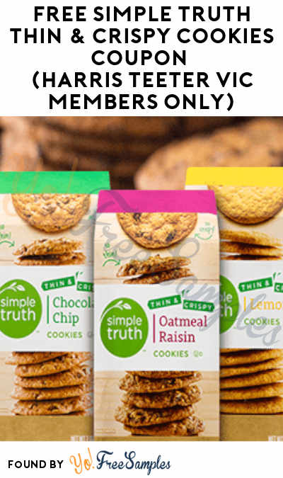 FREE Simple Truth Thin & Crispy Cookies Coupon (Harris Teeter VIC Members Only)