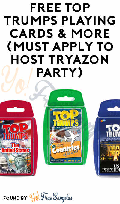 FREE Top Trumps Playing Cards & More (Must Apply To Host Tryazon Party)