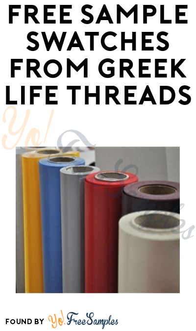 FREE Sample Swatches from Greek Life Threads