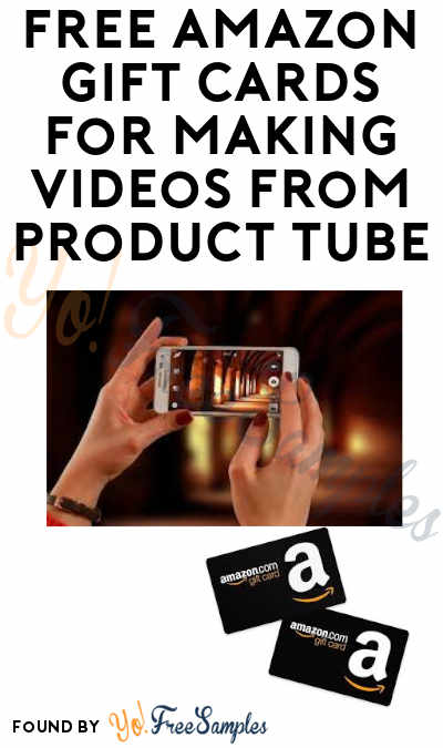 FREE Amazon Gift Cards from ProductTube (Email Verification Required)