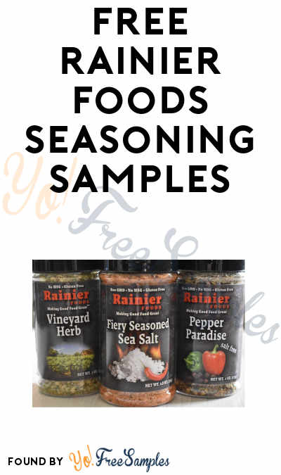 FREE Seasoning Samples From Rainier Foods (Facebook Message Required)