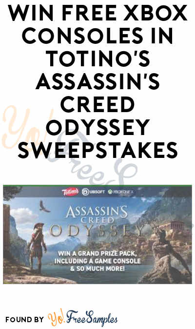 Enter Daily: Win FREE Xbox One X Console and Assassin's Creed Package in Totino's Assassin's Creed Odyssey Sweepstakes