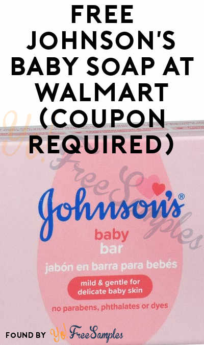 FREE Johnson's Baby Soap At Walmart (Coupon Required)
