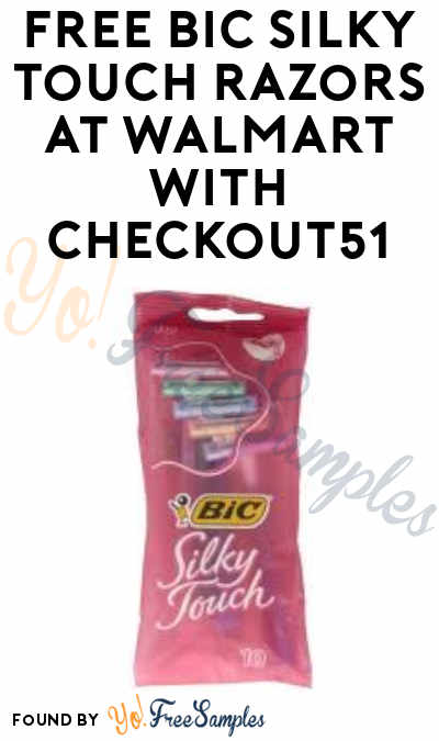 5 FREE BIC Silky Touch Razors At Walmart (Checkout51 Required)