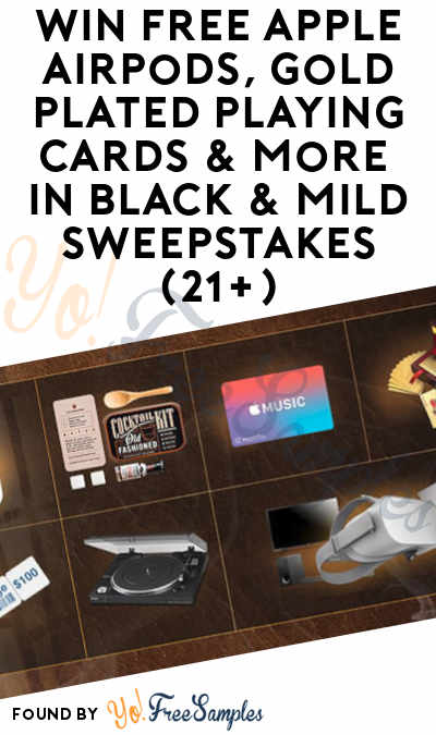 Enter Weekly: Win FREE Apple Airpods, Gold Plated Playing Cards & More In Black & Mild Sweepstakes (21+)