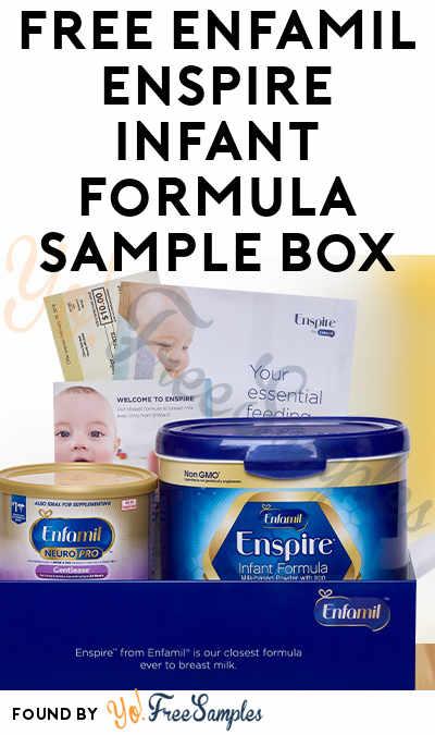 FREE Enfamil Enspire Infant Formula Sample Box