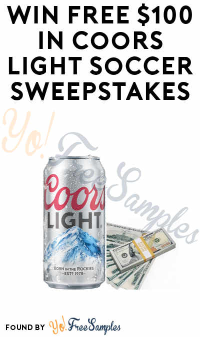 Enter Daily: Win A FREE $100 & More From The Coors Light Soccer Sweepstakes (21+)