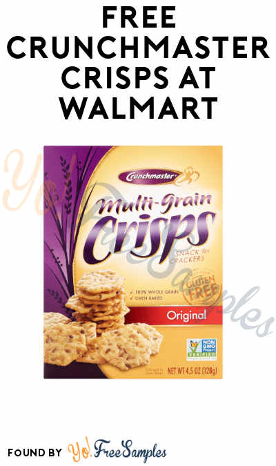 FREE Crunchmaster Crisps + Profit at Walmart (Coupon, Ibotta & Checkout51 Required)