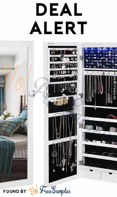 DEAL ALERT: 27% OFF SONGMICS 6 LED Mirror Jewelry Cabinet At Amazon