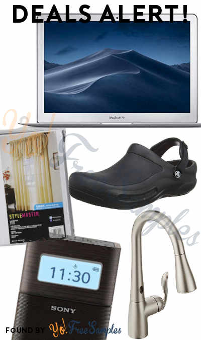 DEALS ALERT: MacBook Air, Stylemaster Curtains, Crocs Pro Unisex Clog, Kitchen Faucet, Sony Portable AM/FM Alarm Clock & More