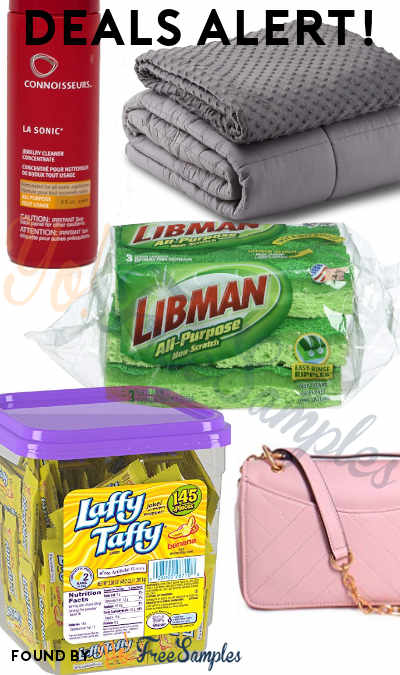 DEALS ALERT: Laffy Taffy Candy Jar, Jewelry Cleaner, Weighted Blanket, Libman Sponges, Tory Burch Shoulder Bag & More