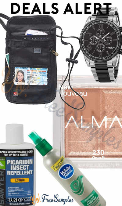 DEALS ALERT: Designer Watches, RFID Blocking Stash Neck Wallet, Insect Repellent Lotion, Almay Shadow Squad, White Rain Hair Spray & More