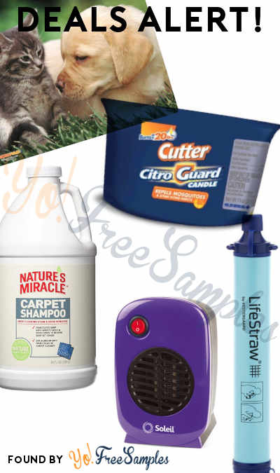 DEALS ALERT: Kitten + Puppy Mouse Pad, Citro Guard Candle, Pet Stain + Odor Carpet Shampoo, Personal Electric Heater, LifeStraw Water Filter & More