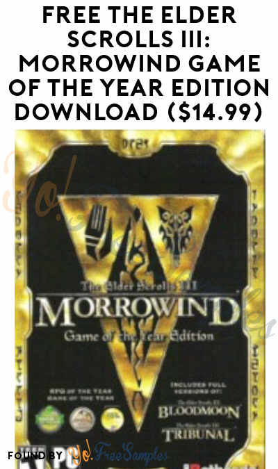 Through 3/31 Now: FREE The Elder Scrolls III: Morrowind Game of the Year Edition Download ($14.99)
