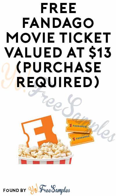 FREE Fandango Movie Ticket (Purchase Required)