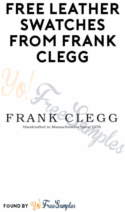 FREE Leather Swatches from Frank Clegg