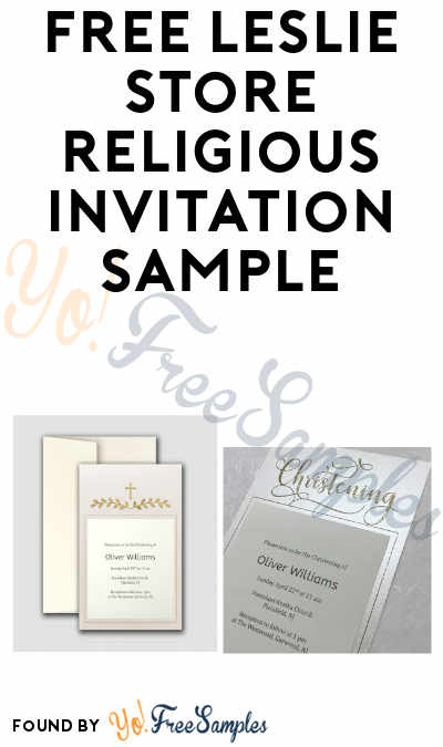 FREE Leslie Store Religious Invitation Sample (Company Name Required)
