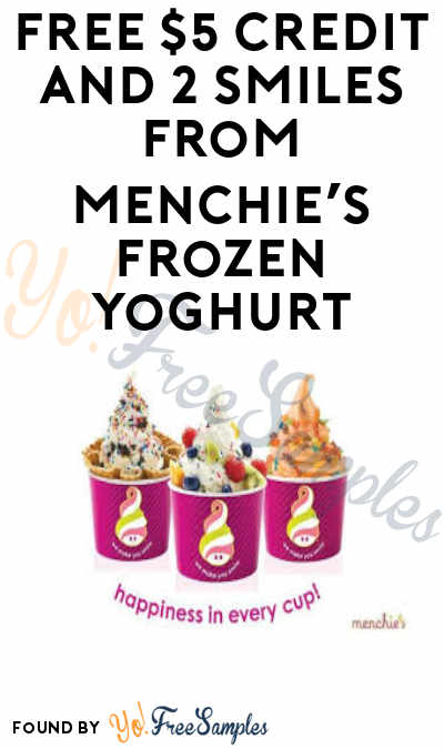 FREE $5 Credit & More from Menchie's Frozen Yoghurt (Mobile App Required)
