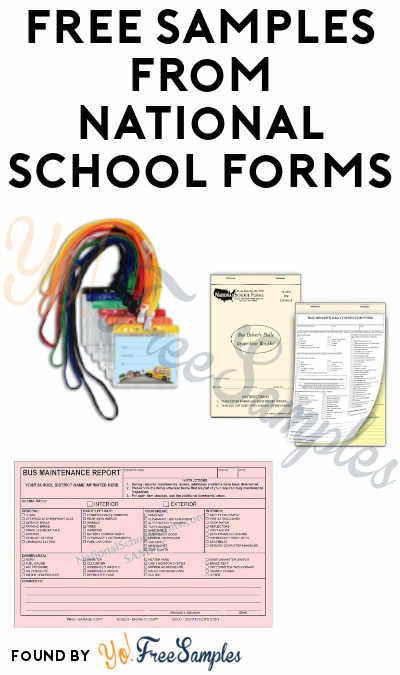 FREE Samples From National School Forms (Educational Institutions Only)