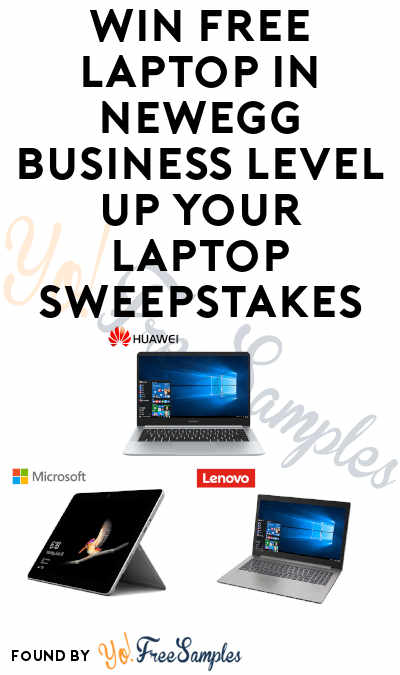 Enter Daily: Win A FREE Laptop in Newegg Business Level Up Your Laptop Sweepstakes