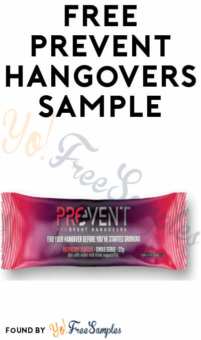 FREE PreEvent Hangover Cure Sample