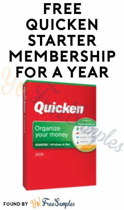 FREE Year-Long Quicken Starter Membership (Account Required)