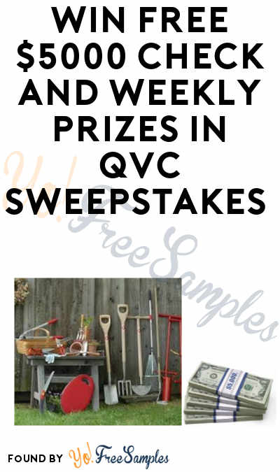 Enter Daily: Win A FREE $5000 Check & Weekly Prizes in QVC's Can You Dig It? Garden Sweepstakes
