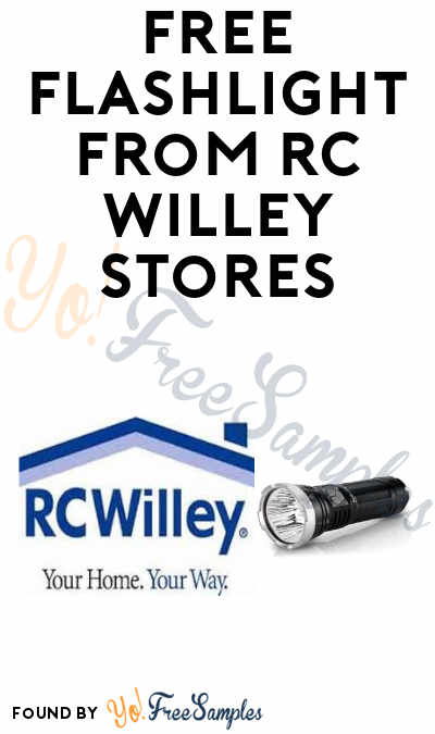 FREE Flashlight from RC Willey Stores