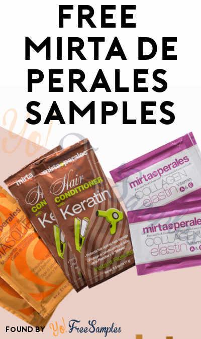 FREE Mirta de Perales Hair Conditioner, Hair Masque & Collagen Samples