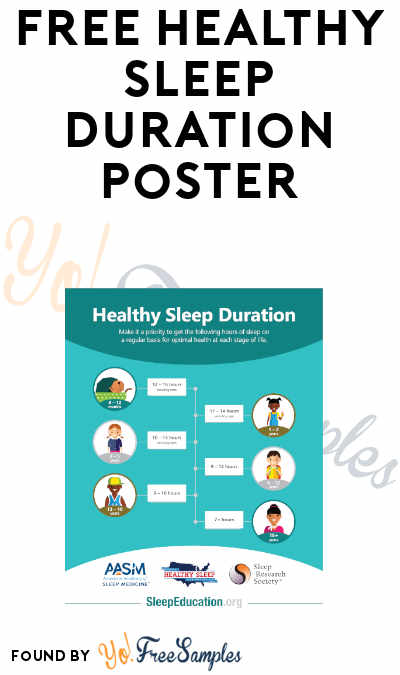 FREE Healthy Sleep Duration Poster from the National Healthy Sleep Awareness Project (Email Required)
