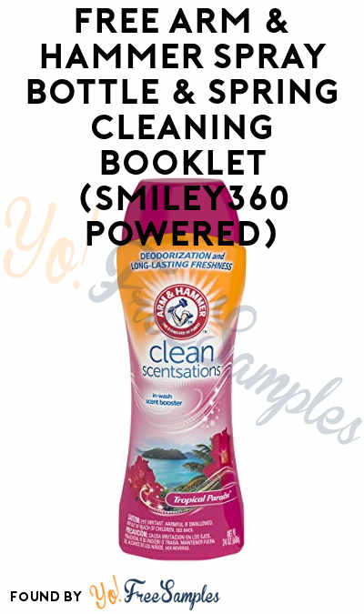 FREE Arm & Hammer Spray Bottle & Spring Cleaning Booklet (Smiley360 Powered)