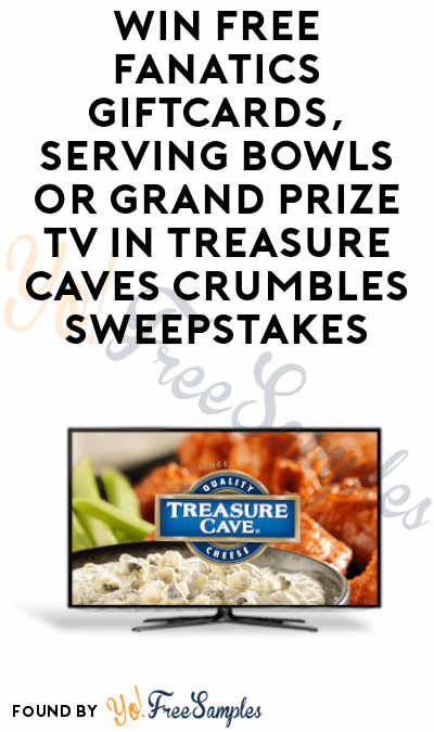 Enter Daily: Win FREE Fanatics Gift Cards and Football Serving Bowls from Treasure Cave Crumbles Sweepstakes