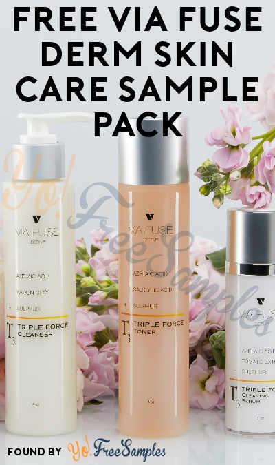 FREE Via Fuse Derm Skin Care Sample Pack