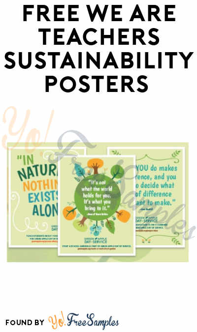 FREE We Are Teachers Sustainability Posters (Schools Only)