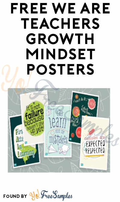 FREE We Are Teachers Growth Mindset Posters (Schools Only)