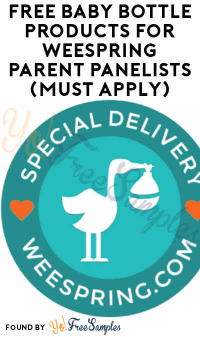 FREE Baby Bottle Products For Weespring Parent Panelists (Must Apply)