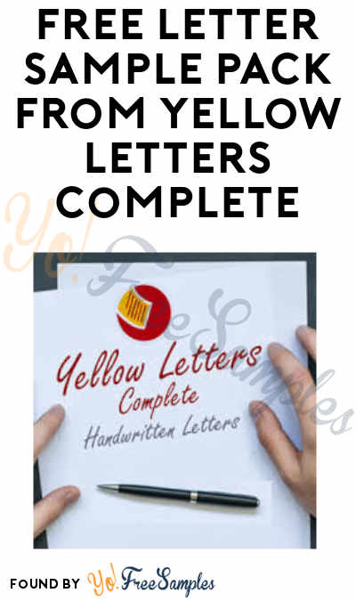 FREE Letter Sample Pack from Yellow Letters Complete (Real Estate Professionals Only)