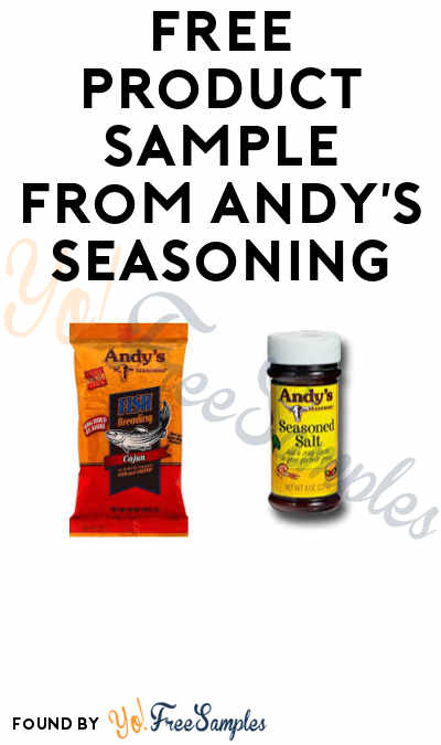 Possible FREE Product Sample from Andy's Seasoning