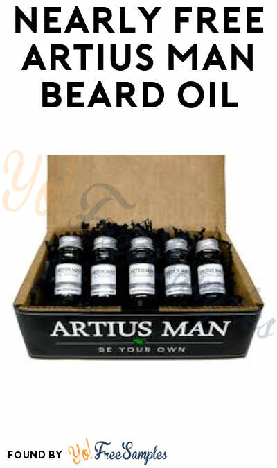 Nearly FREE Artius Man Beard Oil (Credit Card Required)