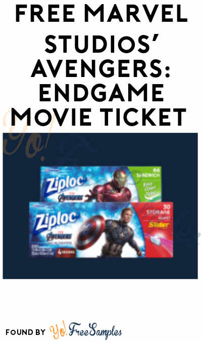 FREE Marvel Studios' Avengers: Endgame Movie Ticket (Ziploc Purchase Required)