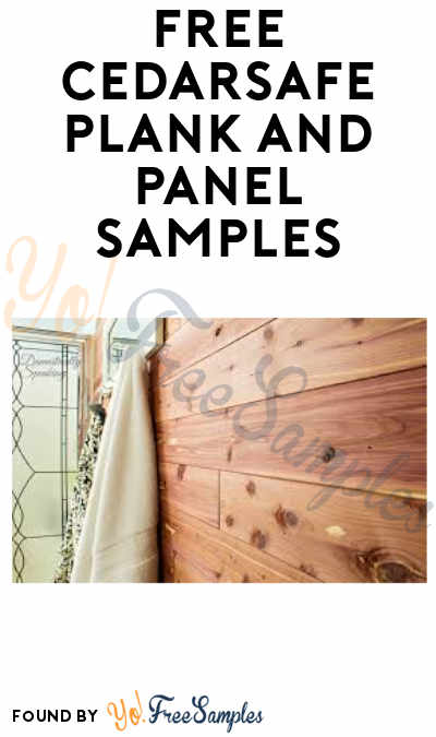 FREE CedarSafe Plank and Panel Samples