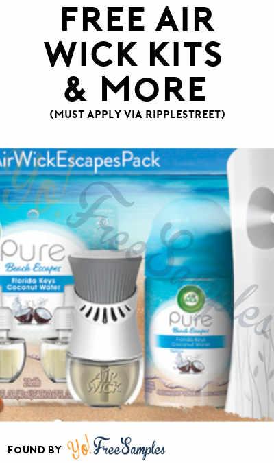 FREE Air Wick Kits & More (Must Apply via RippleStreet)