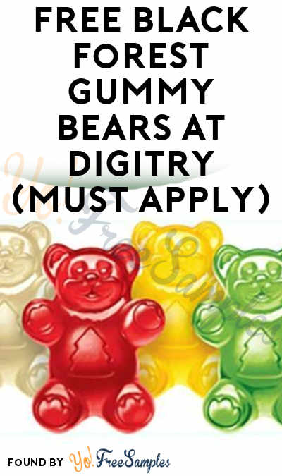 FREE Black Forest Gummy Bears At Digitry (Must Apply)